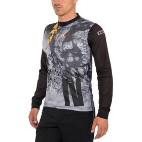 ION Scrub Longsleeve Shirt Heren, zwart/blauw